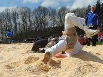Luchadores del suizo de la lucha foto de archivo