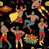 Luchadores Heroes Illustration Stock Images
