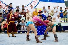 Luchadores mongoles Imagenes de archivo
