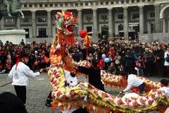 Luchar el dragón Foto de archivo libre de regalías
