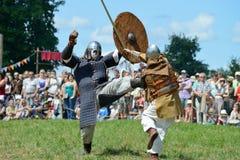 Luchas medievales Imagen de archivo libre de regalías