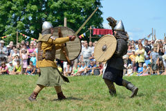 Luchas medievales Imagen de archivo