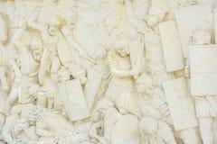 Luche la escena en un alivio de Carolina White Fortress Foto de archivo libre de regalías
