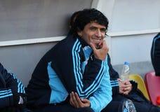 Lucho Gonzalez von Olympique De Marseille stockbild