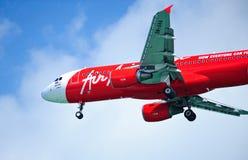 Lucht Azië A320-216 Royalty-vrije Stock Foto's