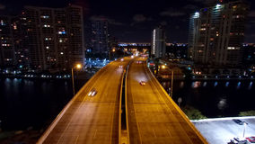 Lucht de Nachthorizon van Miami Aventura Stock Afbeeldingen