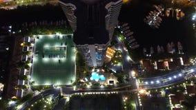 Lucht de Nachthorizon van Miami Aventura Stock Foto