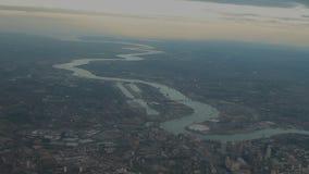 Lucht - de Stad van Londen stock video