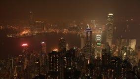 Lucht de tijdtijdspanne van Hong Kong stock videobeelden
