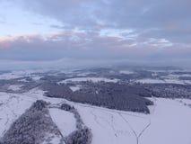 Lucht de winterlandschap Royalty-vrije Stock Afbeeldingen