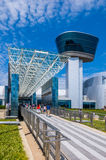 Lucht en Ruimtemuseumingang Stock Foto's