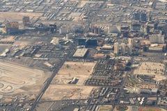 Lucht Foto van de Strook van Las Vegas Stock Afbeelding