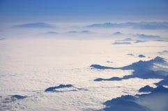 Lucht fotografie met wolken Stock Foto