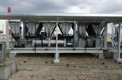 Lucht gekoelde water koelere installatie met buisleidingen Royalty-vrije Stock Foto's