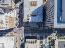 Lucht het Oogmening van de Hommelvogel ` s van Stad van Raleigh, NC Stock Afbeelding
