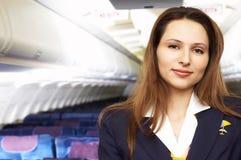 Lucht hostress (stewardess) stock afbeelding