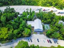 Lucht I-10 wegparkeerplaats in Hankamer, Texas, de V.S. royalty-vrije stock afbeeldingen