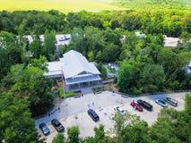 Lucht I-10 wegparkeerplaats in Hankamer, Texas, de V.S. royalty-vrije stock afbeelding
