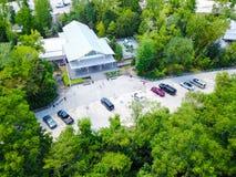 Lucht I-10 wegparkeerplaats in Hankamer, Texas, de V.S. stock afbeeldingen