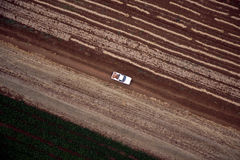 Lucht landschap met landelijk gebied Stock Afbeeldingen