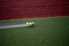 Lucht landschap met landelijk gebied Stock Foto