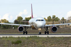 Lucht Malta in de Livrei van specilvalletta 2018 Stock Afbeelding