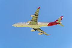 Lucht Mauritius Airbus A340-300 Royalty-vrije Stock Afbeelding