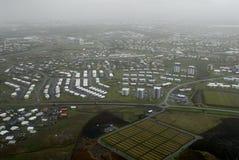 Lucht mening aan Reykjavik Stock Foto
