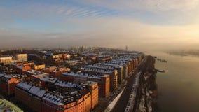 Lucht Mening De Stad van Stockholm stock videobeelden