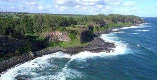 Lucht mening Mauritius stock fotografie
