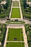 Lucht mening over Champs DE Mars Stock Afbeeldingen