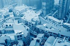 Lucht mening over de stad Royalty-vrije Stock Fotografie