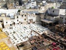 Lucht mening over Fez Stock Foto's