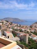 Lucht mening over Grieks eiland Stock Foto