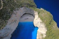 Lucht mening over het eiland van Zakynthos stock foto