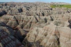 Lucht mening over Nationaal Park Badlands Royalty-vrije Stock Foto's