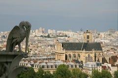 Lucht mening over Parijs stock afbeelding