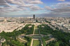 Lucht mening over Parijs. Stock Afbeeldingen