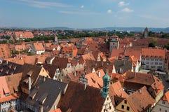 Lucht mening over Rothenburg Stock Afbeelding