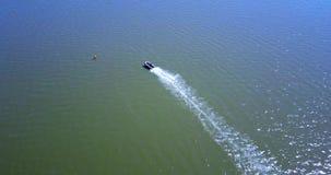 Lucht Mening Ras op motorboten stock videobeelden