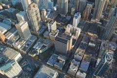 Lucht Mening - Seattle de stad in Stock Foto's