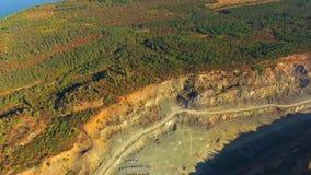 Lucht Mening Simferopol Verpletterde Steencarrière stock videobeelden
