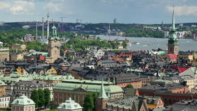 Lucht Mening Stockholm stock footage