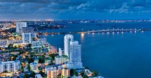 Lucht Mening van Baai Biscayne bij Royalty-vrije Stock Afbeelding