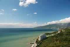 Lucht mening van baai Yalta royalty-vrije stock foto