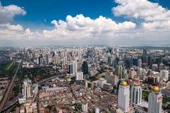 Lucht mening van Bangkok Royalty-vrije Stock Foto's
