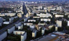 Lucht mening van Berlijn stock afbeeldingen