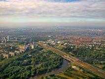Lucht mening van beroemd Amsterdam Zuid Holland royalty-vrije stock afbeelding