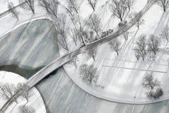 Lucht Mening van Bevroren Meer royalty-vrije stock foto