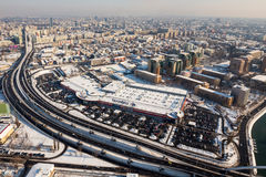 Lucht mening van Boekarest Stock Afbeelding